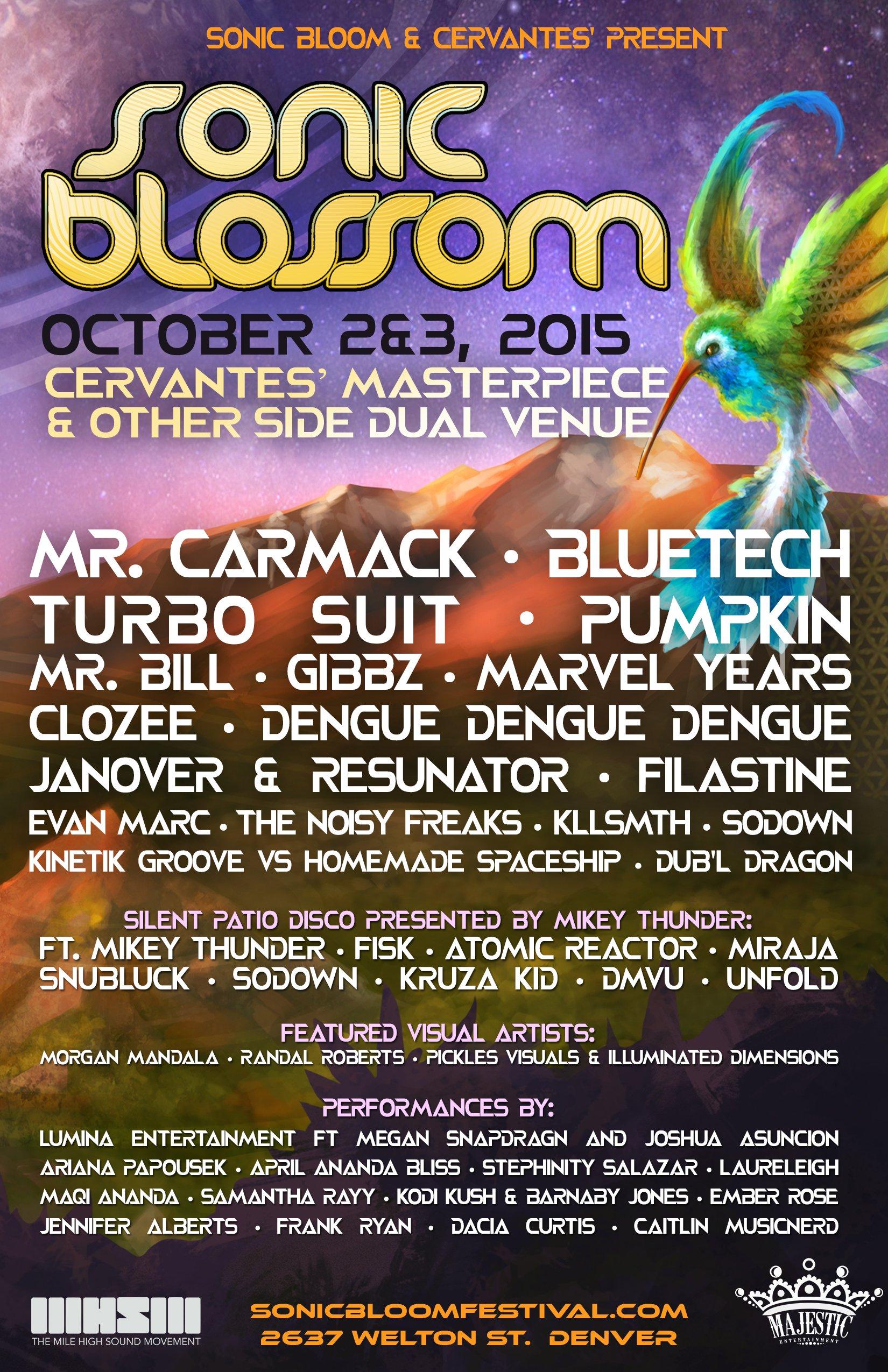 MIRAJA, DMVU & Dub'l Dragon To Perform At Sonic Blossom Denver Oct 2/3rd