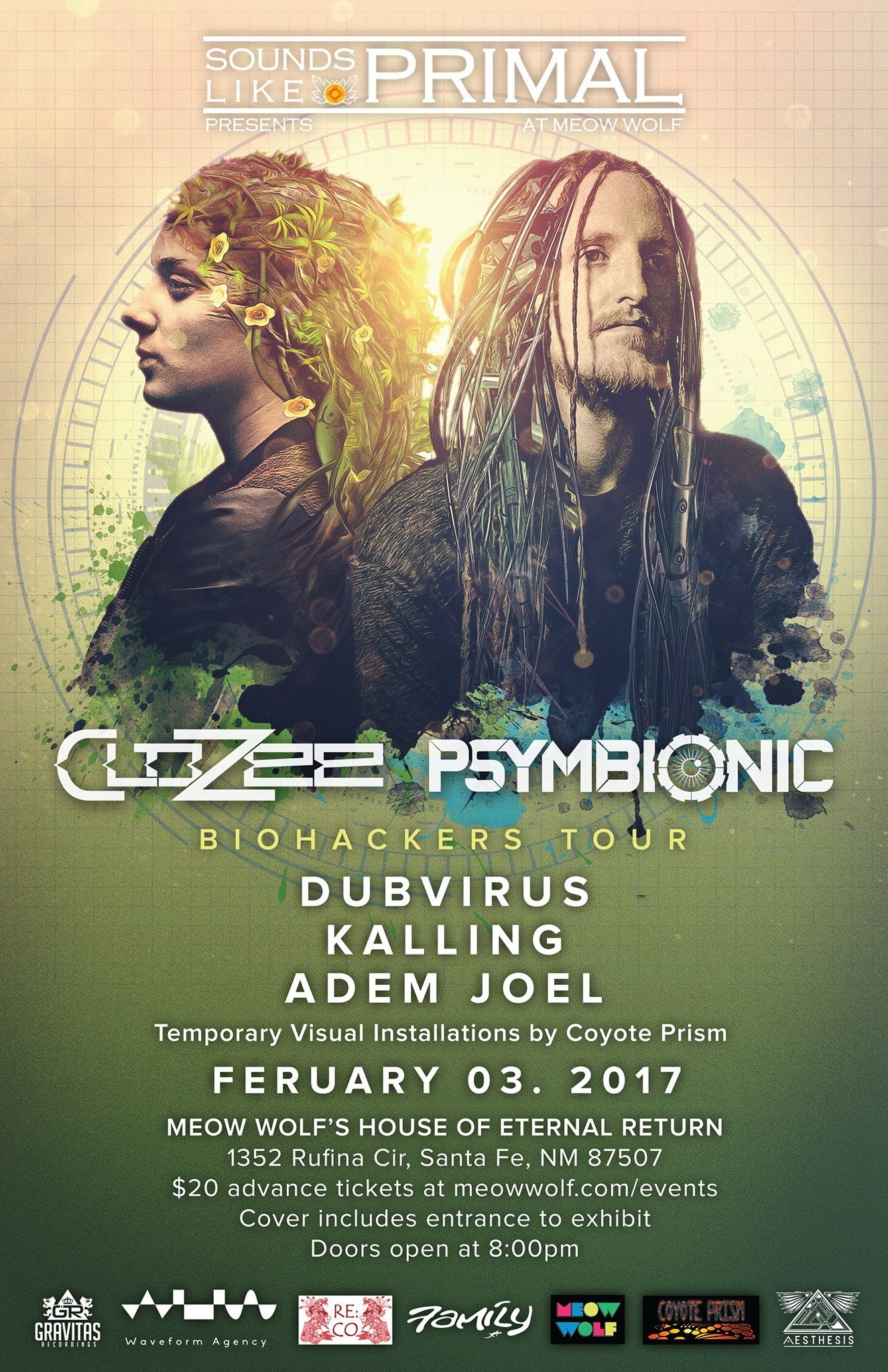 Sounds Like Primal @ Meow Wolf Feat. Clozee, Psymbionic & More Feb 3rd (Santa Fe)