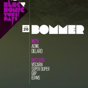 Dillard supporting Bommer. Electronic Tuesdays hosted by Sub.mission