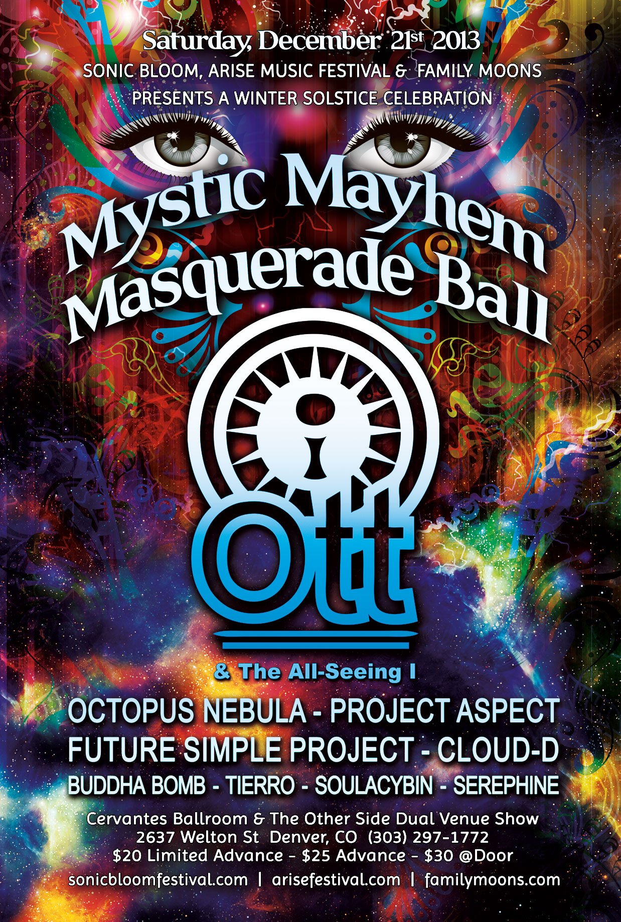 OTT & The All Seeing I – 2013 Winter Solstice Event @ Cervantes Masterpiece Ballroom (Denver)