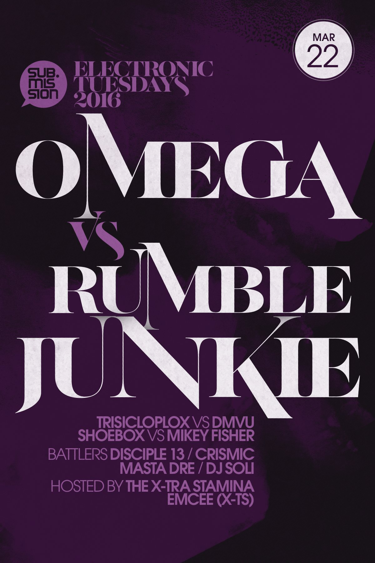 Omega, Mikey Fisher, DMVU In B2b Sets At Electronic Tuesdays March 22nd