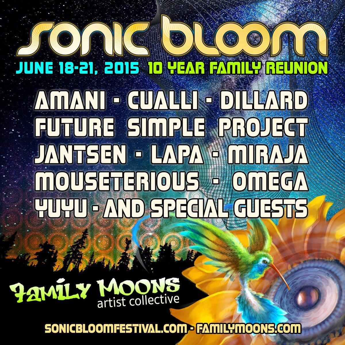Family Moons Artist @ Sonic Bloom 10 Year!