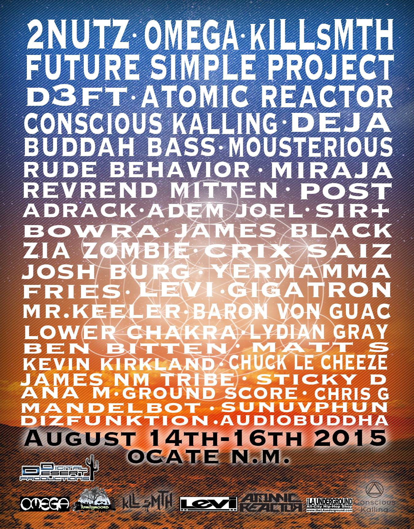Family Moons Artists @ Digital Desert 9 Year. The O! New Mexico AUG 14TH – 16TH